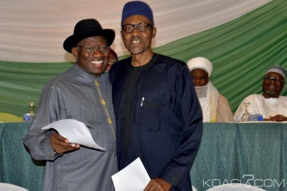 Nigeria: Buhari élève Jonathan pour la présidentielle 2015