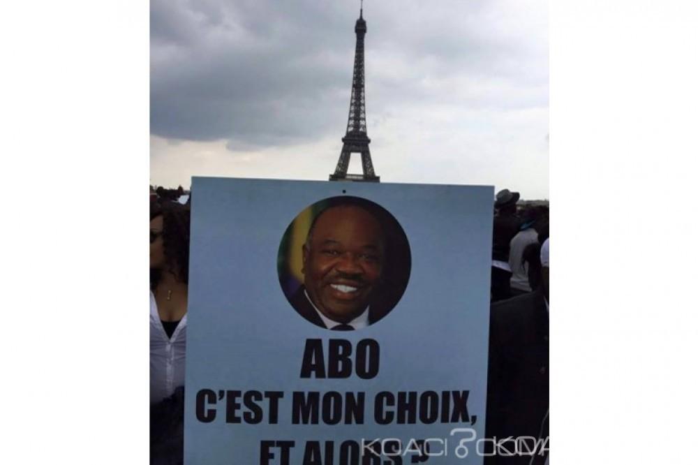 Koacinaute: Paris: Manifestation, de soutien au Président réélu Ali Bongo Ondimba