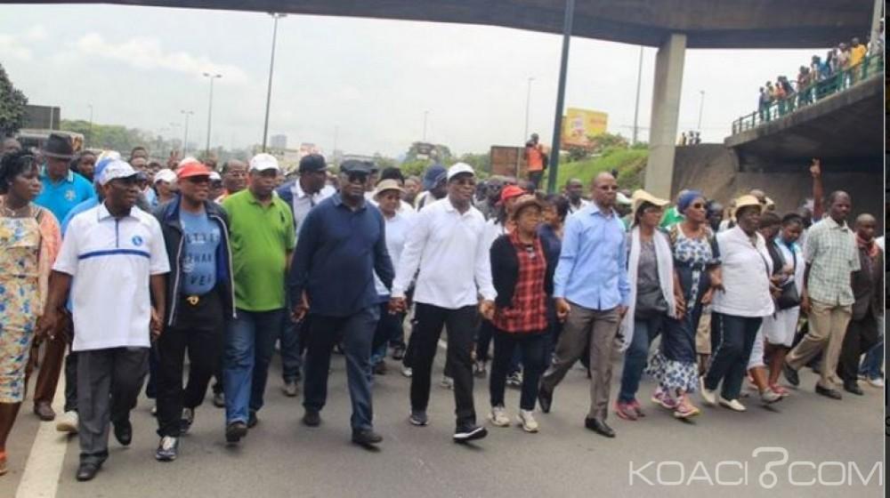 Côte d'Ivoire: Affi et ses camarades ont marché contre la constitution dans l'indifférence totale