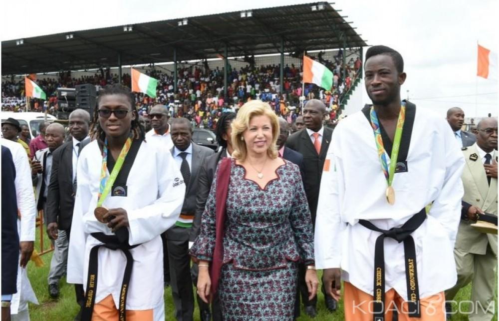 Côte d'Ivoire: Après les JO, Dominique Ouattara et la population de Gagnoa célèbrent les médaillés