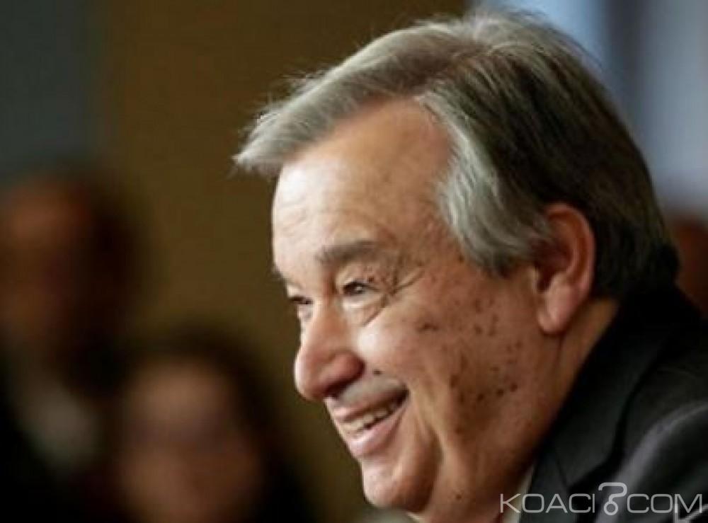 Monde: Antonio Guterres officiellement élu secrétaire général de l'ONU