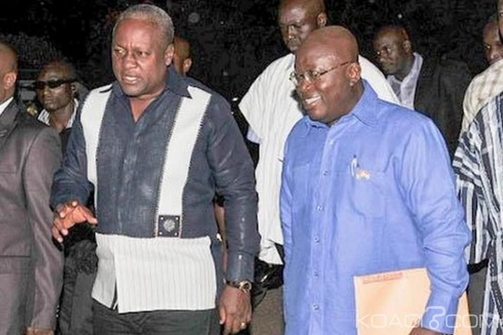 Ghana: Akufo-Addo en avance sur Mahama sur Facebook, tendance inversée sur Twitter