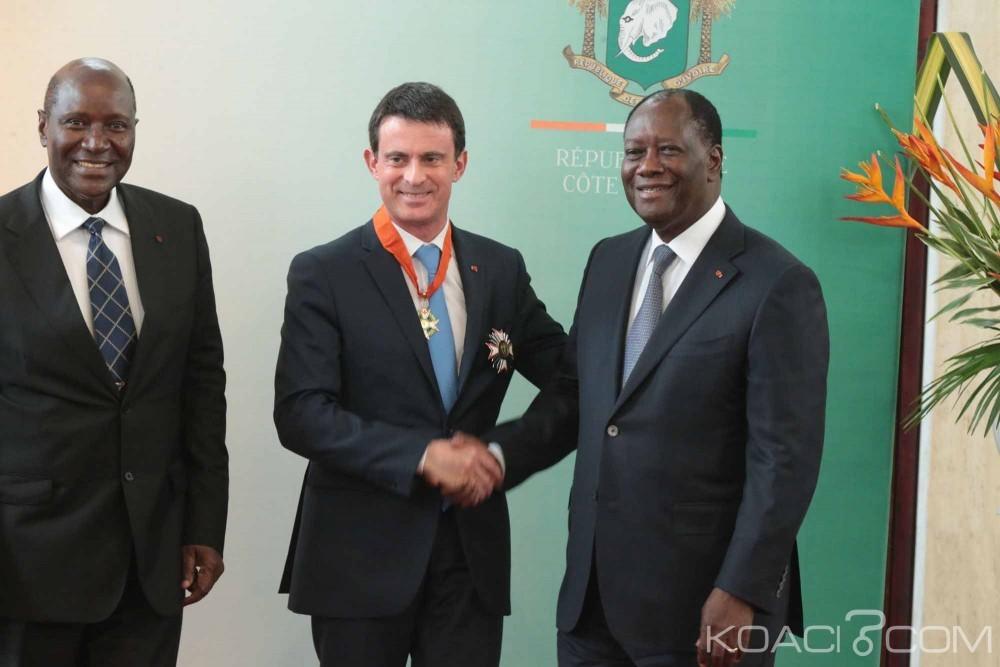 Côte d'Ivoire-France: Pour Valls décoré une nouvelle fois, Ouattara a beaucoup fait pour la réconciliation