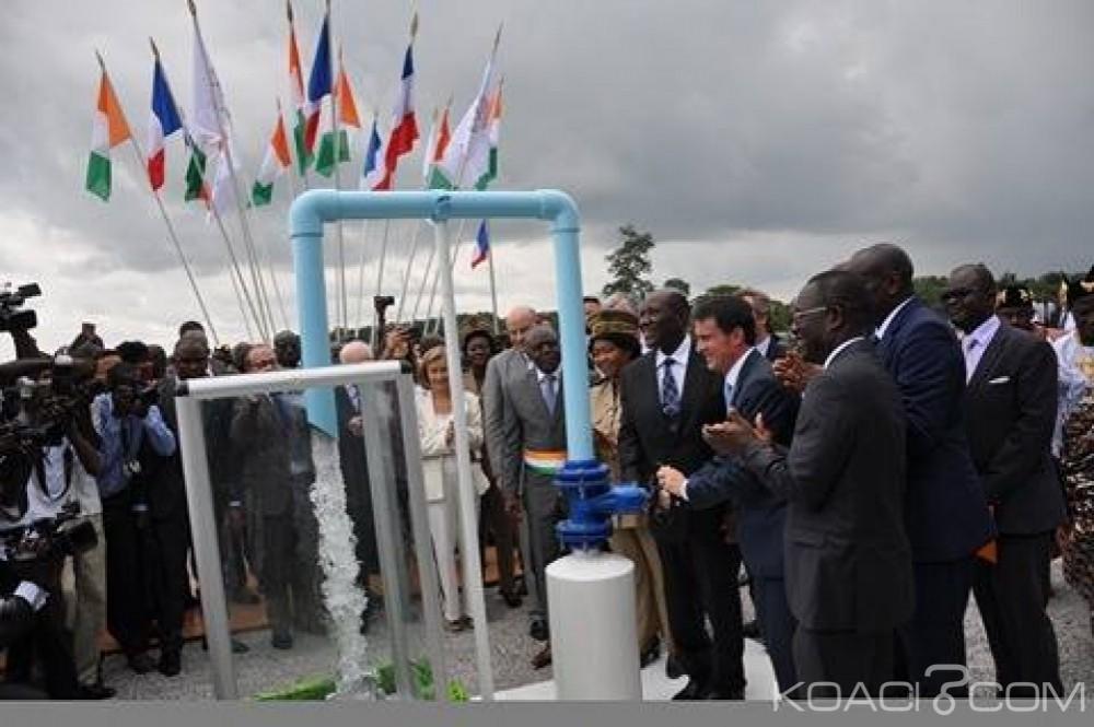 Côte d'Ivoire: Approvisionnement d'Abidjan en eau potable, Manuel Valls et Daniel Kablan Duncan inaugurent une station