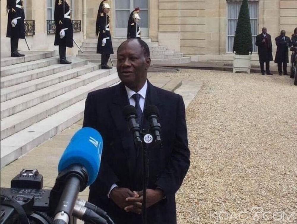 Côte d'Ivoire : A sa sortie de l'Elysée, Ouattara révèle le contenu des échanges avec Hollande