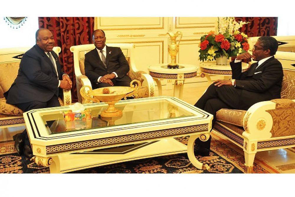 Gabon: A Malabo, Ali Bongo retrouve Alassane Ouattara et défend la sécurité alimentaire
