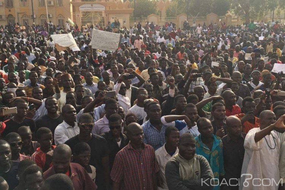 Niger: Vaste Manifestation à Niamey contre  la vie chère et le régime du Président Issoufou