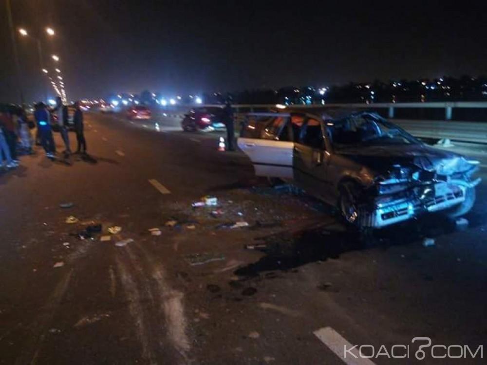 Côte d'Ivoire: Accidents et festivités de fin d'année, le véhicule d'une famille fait tonneau sur le pont HKB