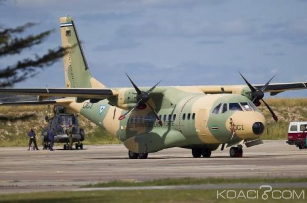 Botswana:  Trois soldats périssent dans le crash de leur avion  dans le sud est