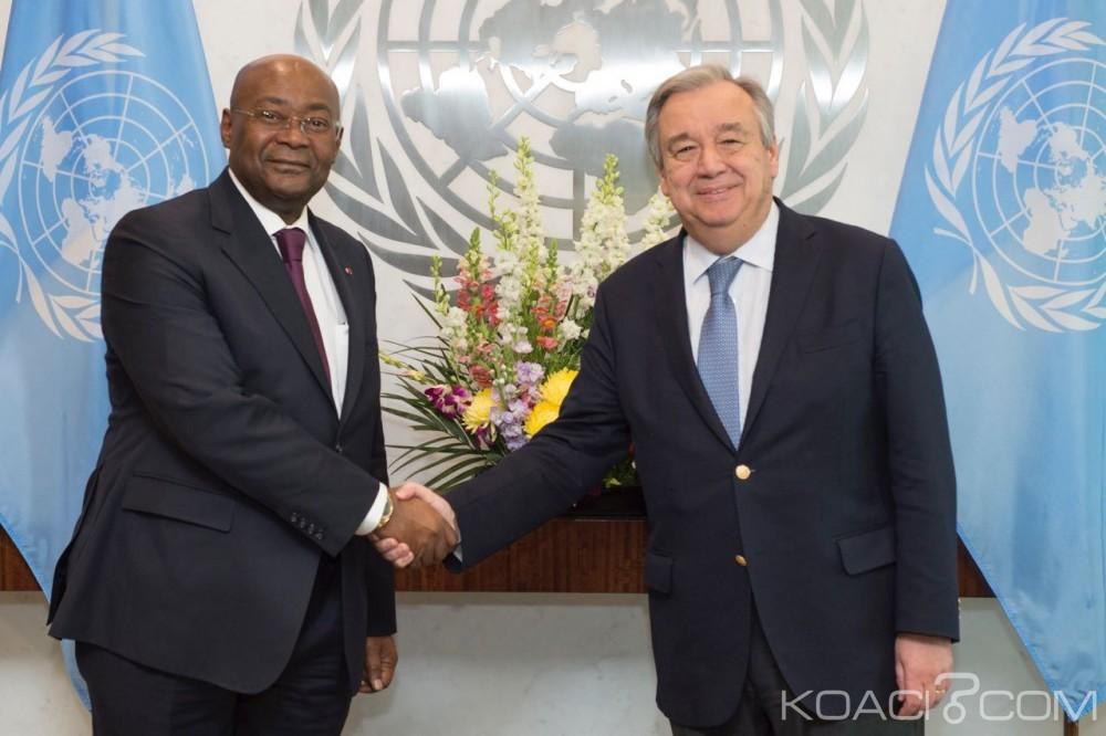 Gabon: Prise de contact avec le nouveau SG de l'Onu, Guterres salue le dialogue inclusif