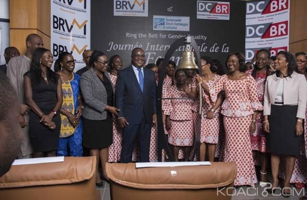 Côte d'Ivoire:  La Bourse de l'UEMOA sensibilise les acteurs des marchés financiers sur l'égalité HOMME–FEMME à travers la sonnerie de sa cloche