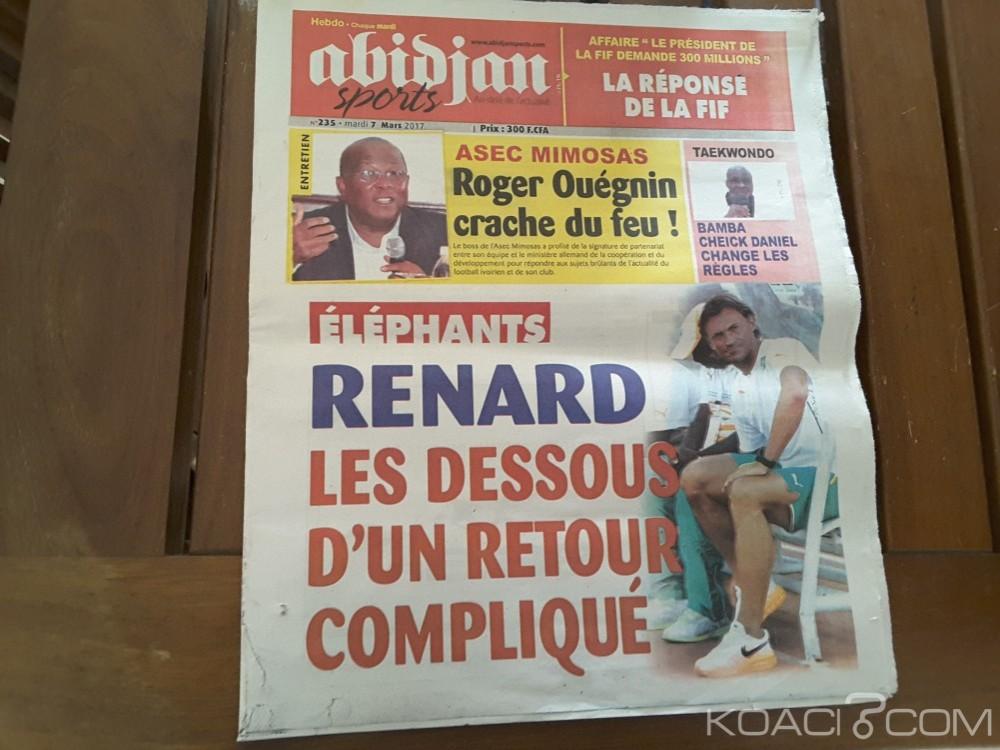 Côte d'Ivoire: L'hebdomadaire sportif «Abidjan sports» suspendu pour un article «mensonger» sur Sidy Diallo