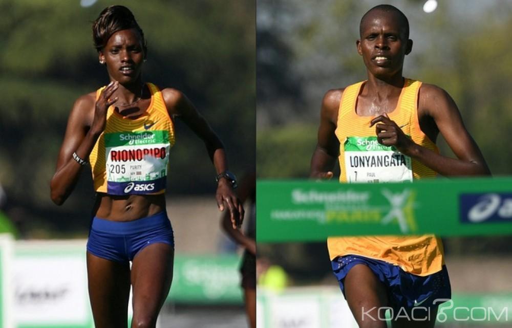 Monde: Marathon de Paris: Un couple de Kényans s'empare de l'or devant les Parisiens