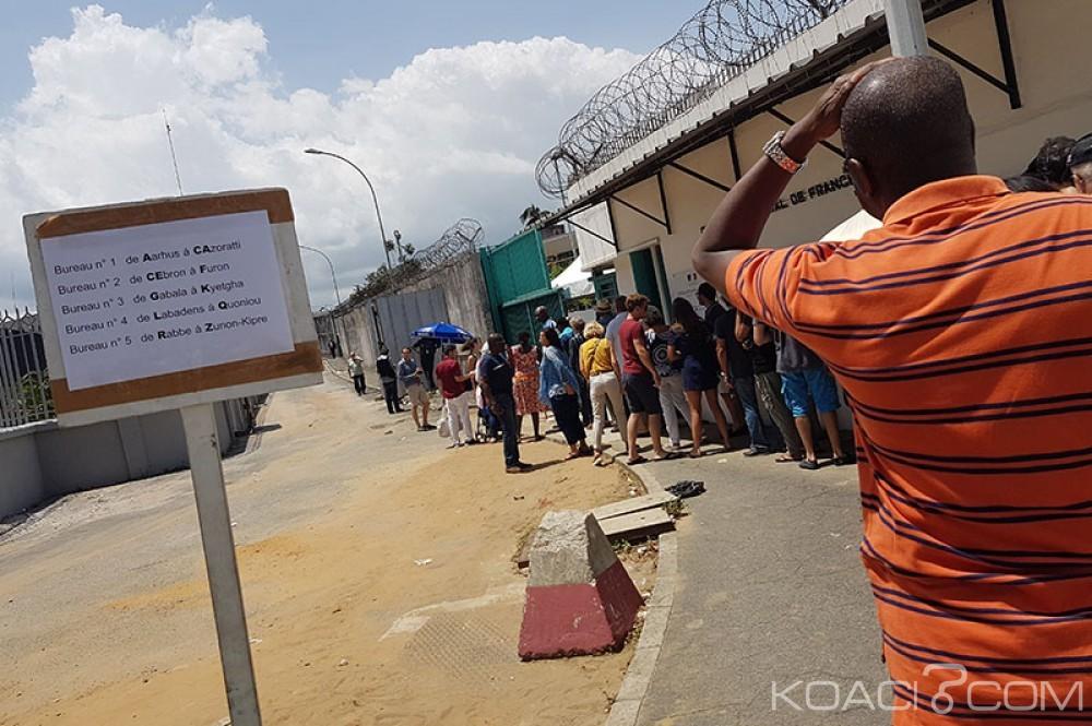 Côte d'Ivoire: Présidentielle 2017, les français se déplacent massivement pour voter