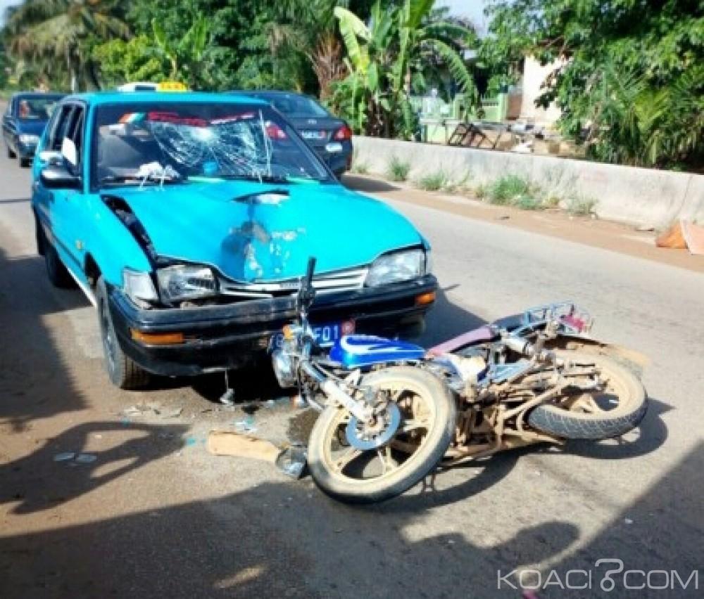Côte d'Ivoire: Yopougon, un motocycliste grièvement blessé par un taxi Wôrô-wôrô