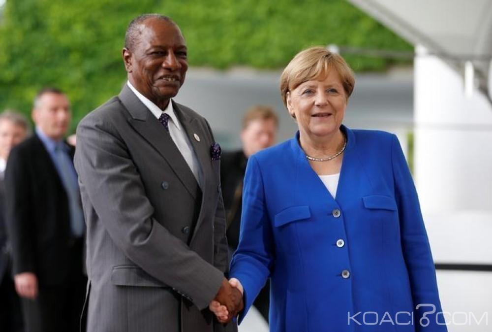 Guinée: G20, Alpha Condé soutient le plan Merkel à  Berlin