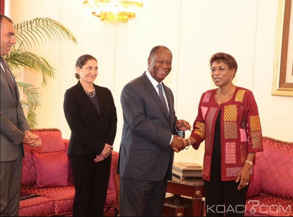 Côte d'Ivoire: La patronne de l'Onuci venue faire ses adieux à Ouattara, est «satisfaite  des avancées démocratiques»
