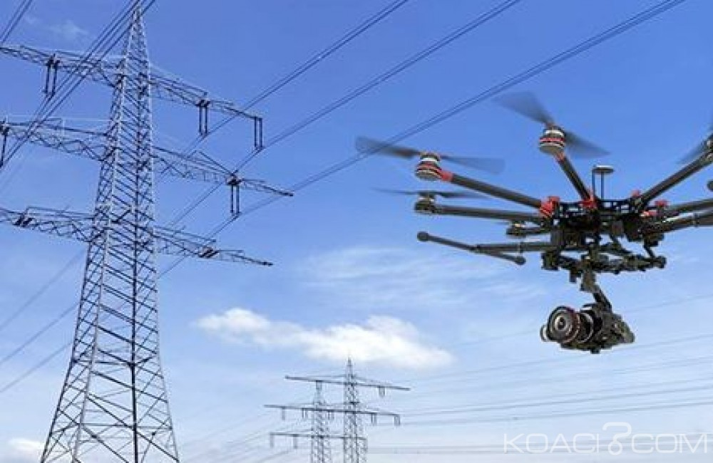 Côte d'Ivoire: La CIE innove avec des drones pour  la maintenance des réseaux et l'inspection des lignes à Haute Tension (HT)