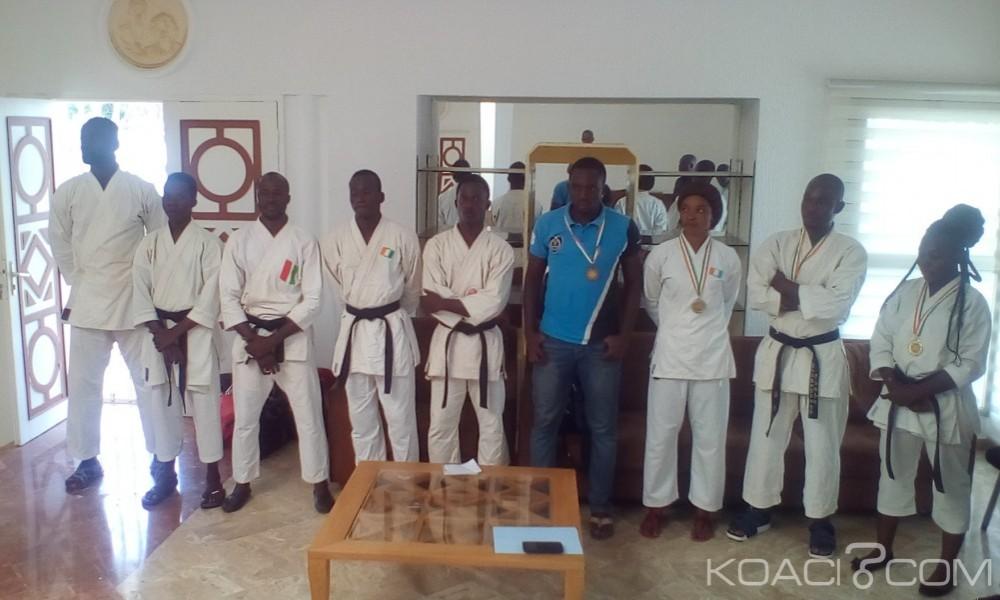 Côte d'Ivoire: Les champions de karaté présentés au préfet de région