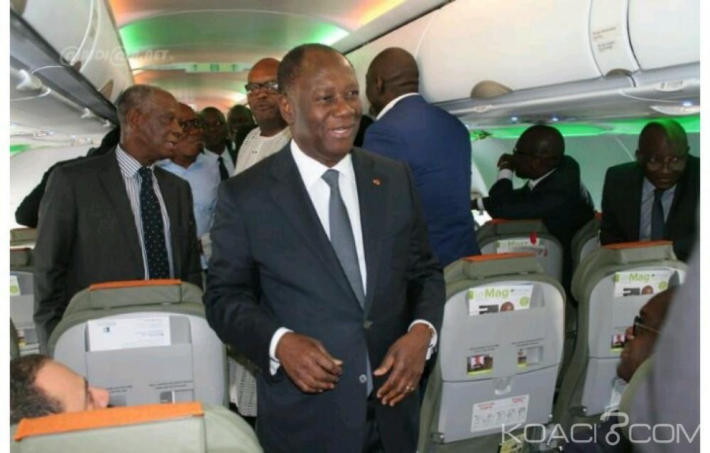 Côte d'Ivoire: L'Air Bus A 320 présenté au président Ouattara à Ouagadougou au soir du TAC