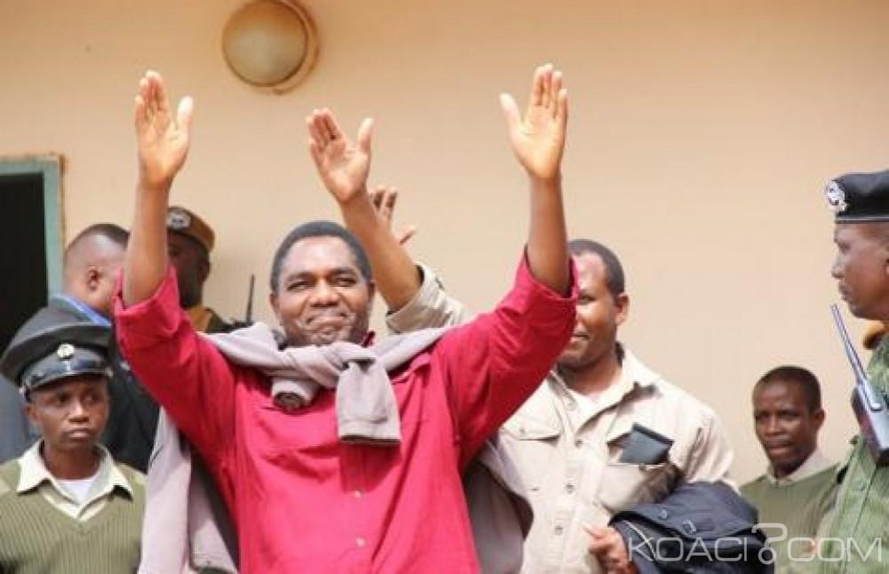 Zambie:  Le chef de l'opposition Hakainde Hichilema libéré après quatre mois de  prison