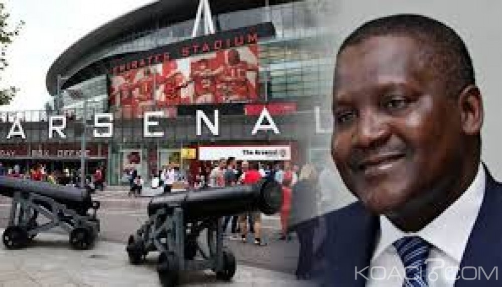 Nigeria:  Le milliardaire Aliko Dangote  veut  s'offrir Arsenal et débarquer Arsène Wenger