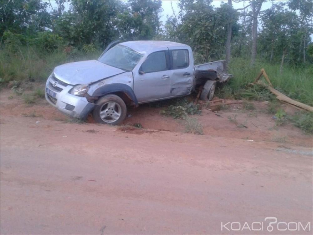Côte d'Ivoire: Biankouman, dans un face-à-face avec motocycliste, un pick up se retrouve dans un ravin