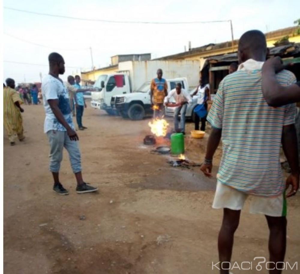 Côte d'Ivoire: Yopougon, voulant griller des poissons, un vendeur de garba échappe à des flammes de sa bouteille de gaz