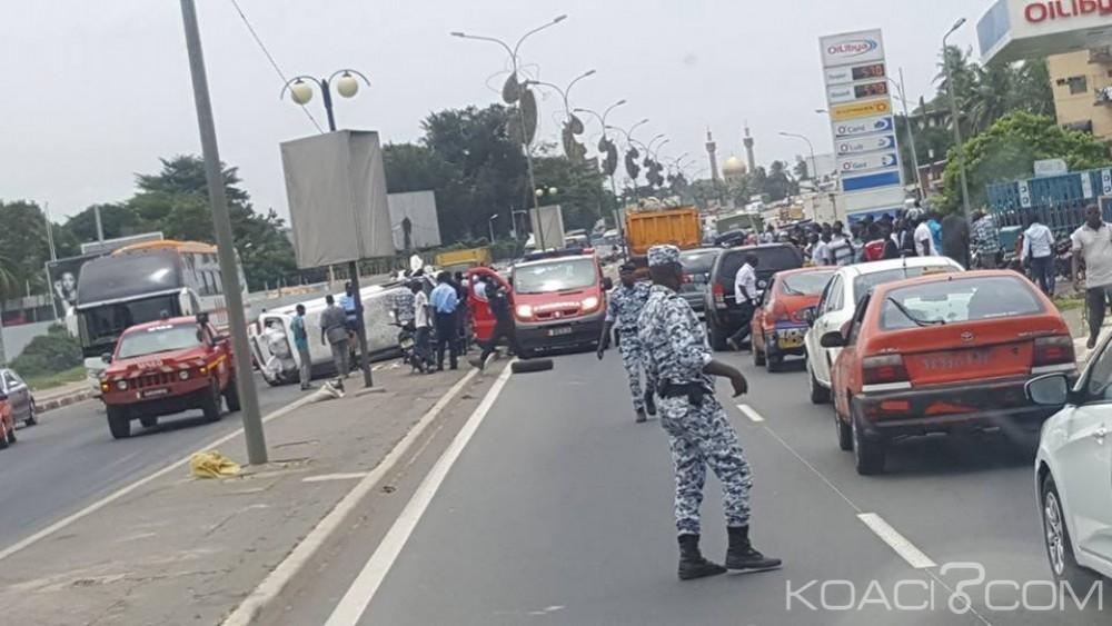Côte d'Ivoire: Treichville, un grave accident de la circulation perturbe la circulation sur le boulevard lagunaire et le VGE