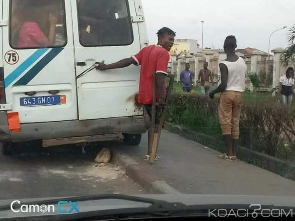 Côte d'Ivoire: L'étonnant apprenti-gbaka unijambiste