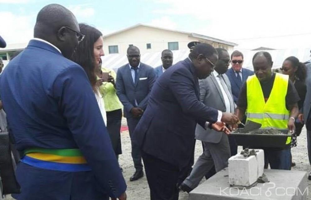 Gabon: Pose de la première pierre du Canalolympia de Port-Gentil