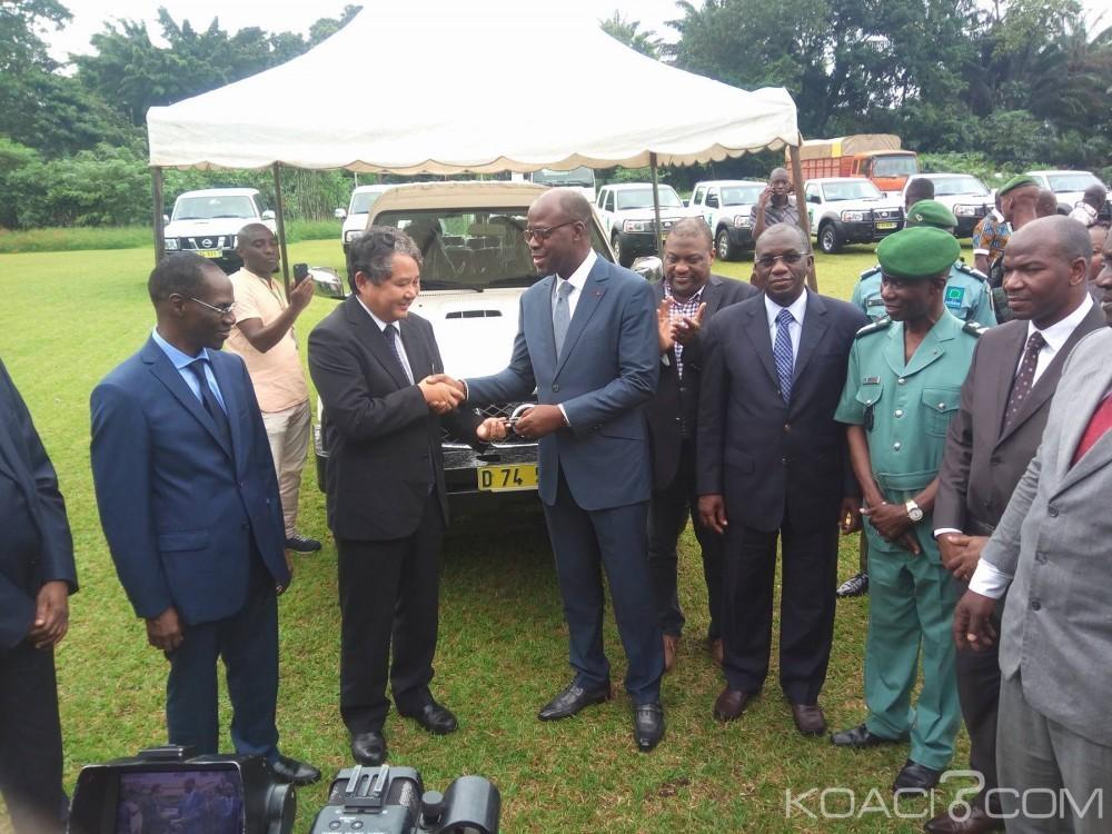 Côte d'Ivoire: Lutte contre la déforestation, le Japon renforce les capacités matériels de la SODEFOR avec des dizaines de véhicules