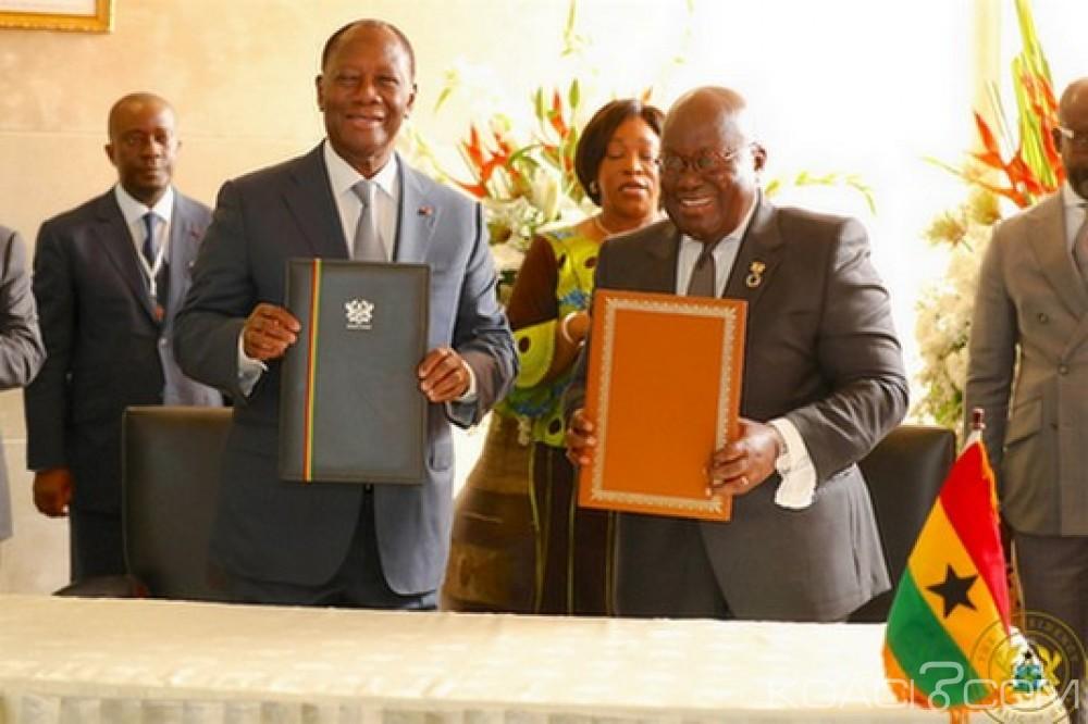 Ghana-Cote d'Ivoire: Signature d'un accord de partenariat stratégique
