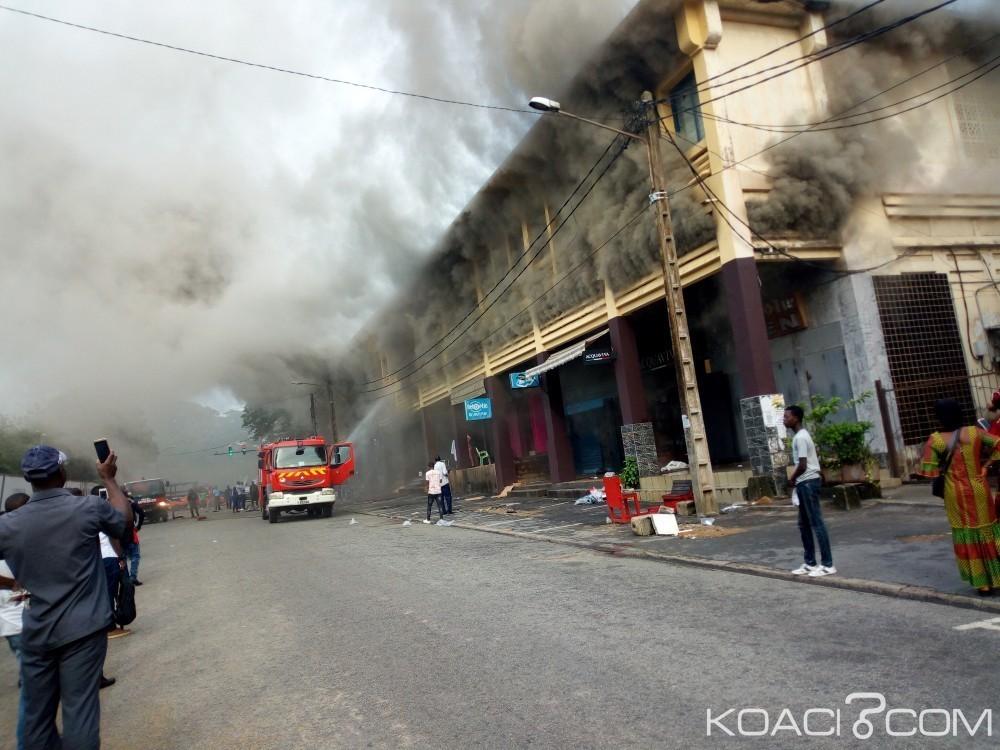 Côte d'Ivoire: Plateau, les locaux annexes de Pigier en feu