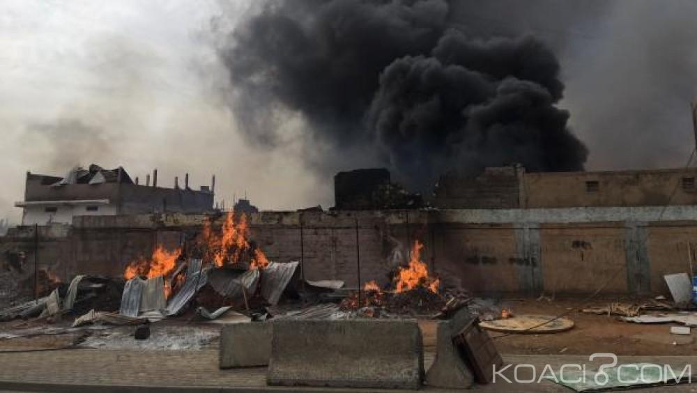 Sénégal: Un violent incendie ravage un quartier commerçant dans la banlieue de Dakar
