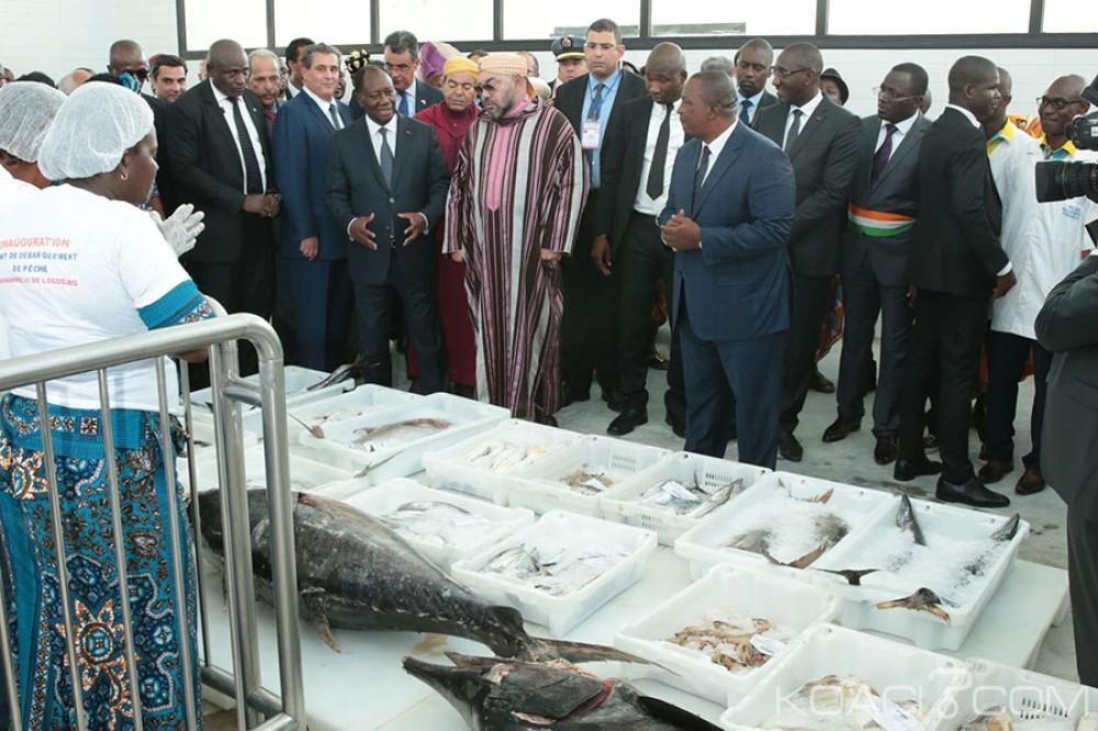 Côte d'Ivoire-Maroc: Ouattara et Mohammed VI, pas de déclaration et inauguration du Point de Débarquement Aménagé de Pêche de Lokodjro