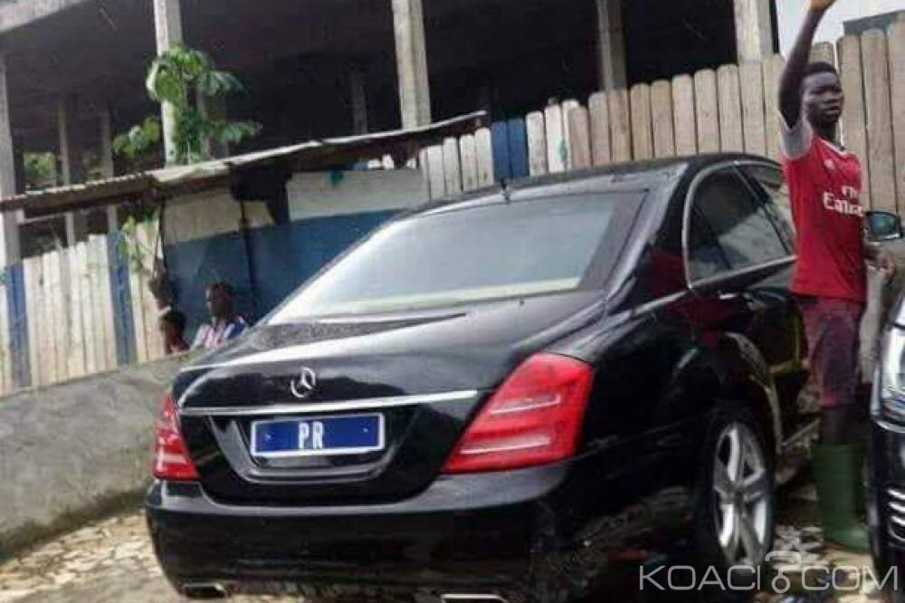 Côte d'Ivoire: Photo inattendue de la voiture du président dans un lavage de rue à Cocody