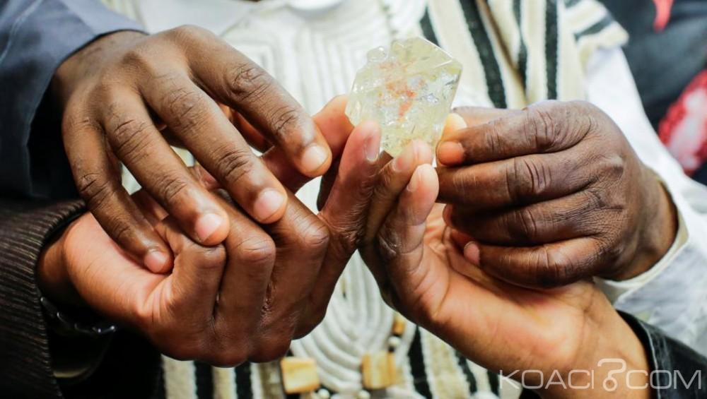 Sierra Léone:  L'un des  plus gros diamants vendu à 3,6 milliards de FCFA à New York