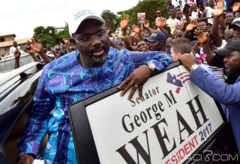 Liberia: George Weah largement élu président du Liberia