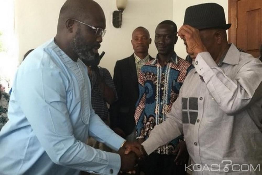 Liberia: Weah en visite chez Boakai à la maison