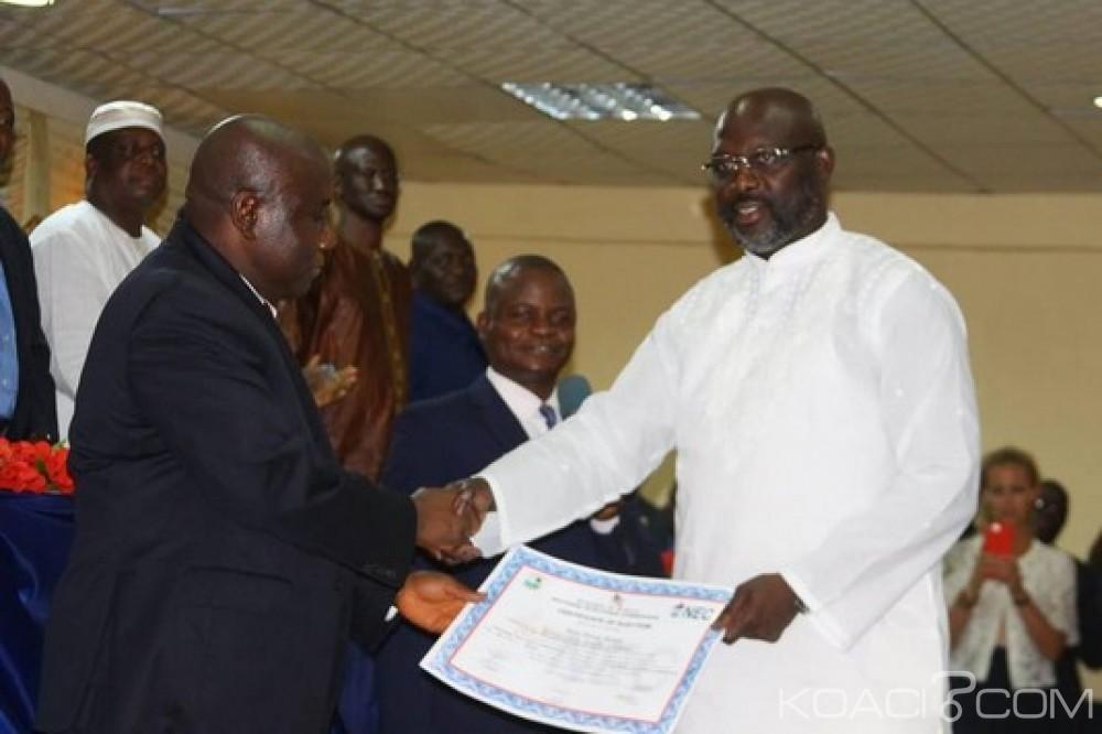 Liberia: Certifié Président élu par la NEC, Weah promet de tenir ses engagements