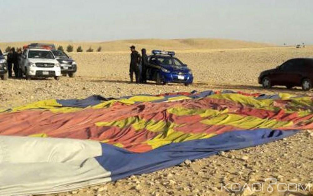 Egypte:  Un touriste  sud africain tué dans le crash d'une montgolfière près de Louxor