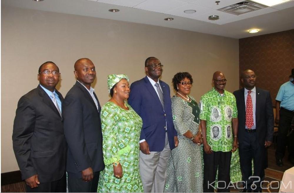 Côte d'Ivoire: PDCI, les délégués des USA et du Canada pour un candidat en 2020, recommandent le respect de la parole donnée par les alliés