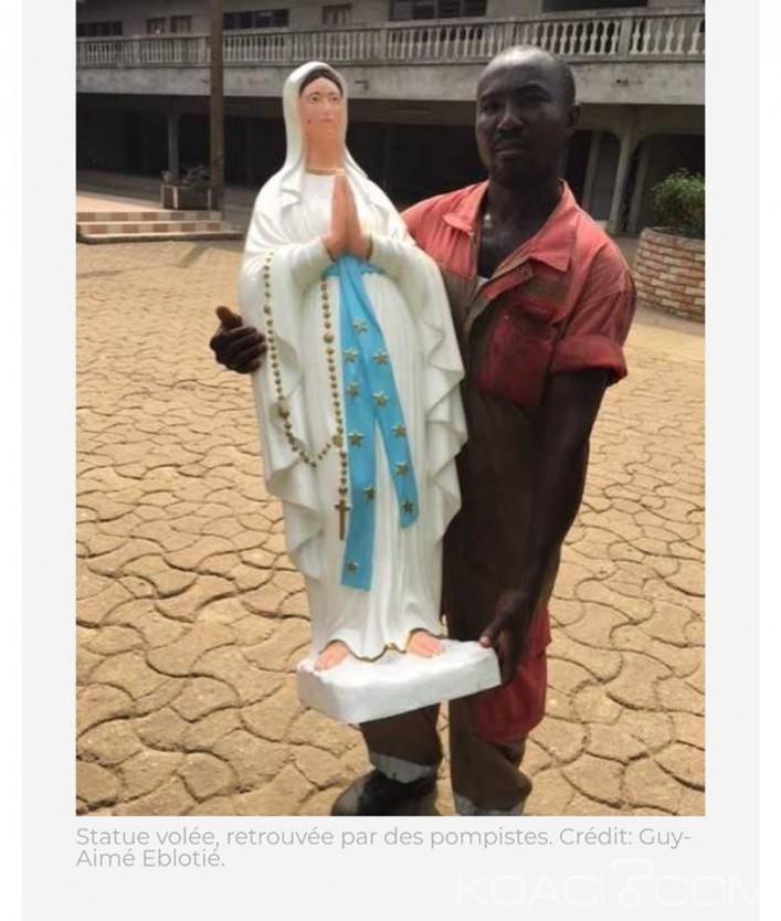 Côte d'Ivoire: La statue de la vierge Marie d'une église catholique à Abidjan retrouvée dans un caniveau