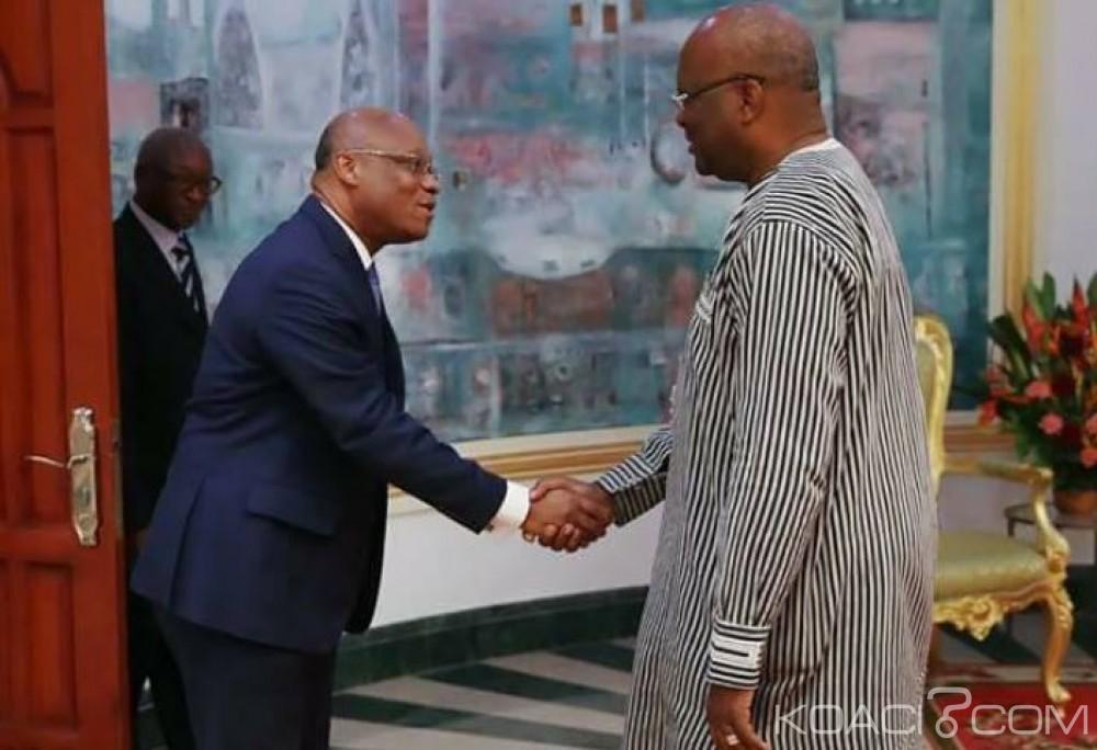 Burkina Faso: Jean-Claude Brou, le nouveau président de commission de la CEDEAO reçu par le président Kaboré