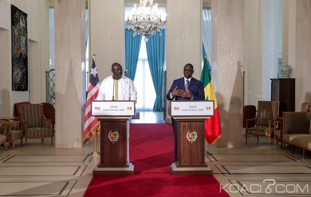 Sénégal-Libéria : George Weah effectue son premier déplacement officiel à Dakar pour remercier son «grand frère Macky Sall»