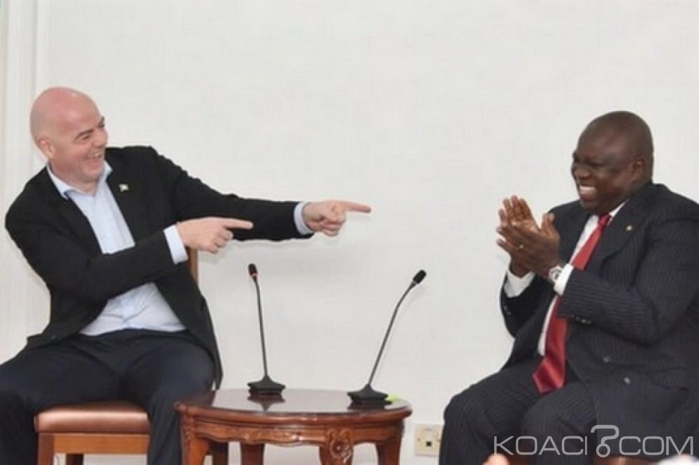 Nigeria: Infantino à Lagos pour un sommet de la FIFA