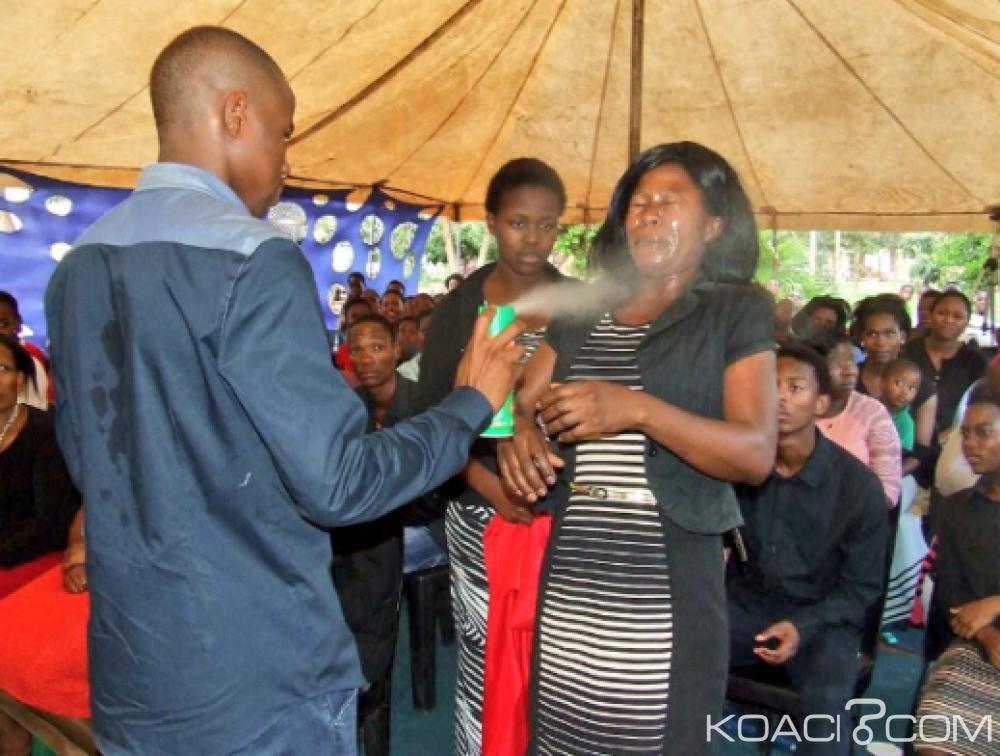Afrique du Sud:  Le prophète qui pulvérisait ses fidèles avec un insecticide condamné  à une amende