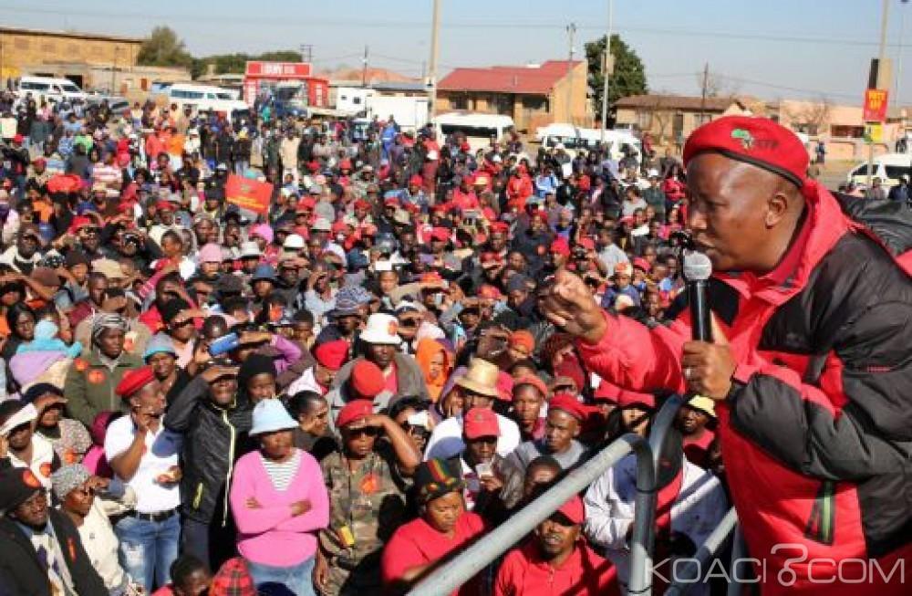 Afrique du Sud:  En campagne, Julius Malema critique le salaire de Cyril Ramaphosa