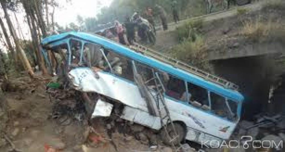 Ethiopie: Un bus fait une sortie de route dans le nord , 38 morts et 10 blessés